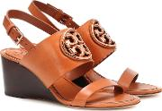 Miller Leather Wedge Sandals