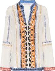 Stephanie Embroidered Cotton Top