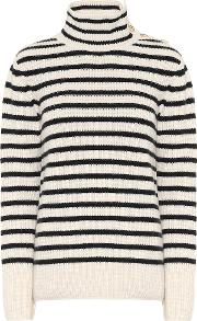 Striped Wool And Cashmere Sweater
