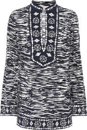 Tory Tunic Embellished Cotton Top