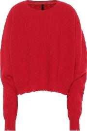 Cropped Wool And Cashmere Sweater