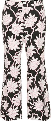 Printed Wool And Silk Trousers