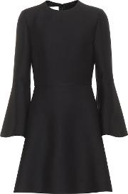 Silk And Wool Crepe Minidress