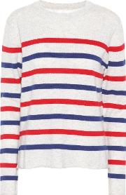 Jorgie Striped Cashmere Sweater