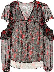 Blakely Foral Printed Silk Blouse