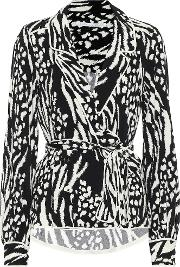 Clive Printed Crepe Blouse