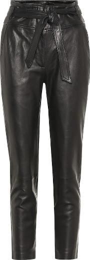 Faxon High Rise Leather Pants
