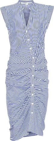 Ruched Cotton Dress