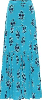 Serence Floral Silk Maxi Skirt