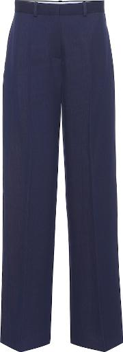 High Rise Wool Trousers
