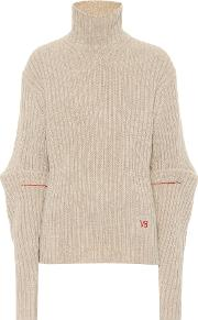 Ribbed Wool Turtleneck Sweater