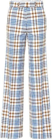 Wool And Mohair Plaid Pants