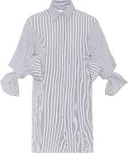 Bow Sleeved Cotton Shirt