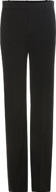 Wool And Cotton Blend Trousers