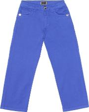 Stretch Cotton Straight Jeans
