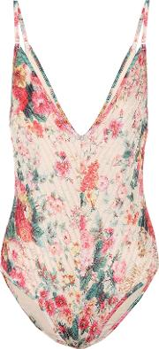 Laelia Floral Pintuck Swimsuit