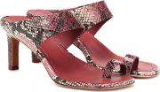 Strap Python Printed Leather Sandals