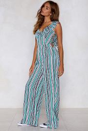 A Poet And You Didn't Know It Striped Jumpsuit