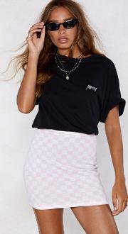 All On Checkerboard Skirt
