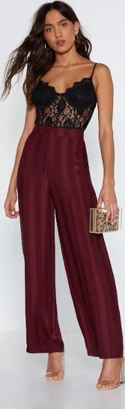 All Satin Good Time Striped Pants