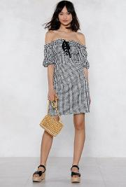 Almost Square Gingham Dress