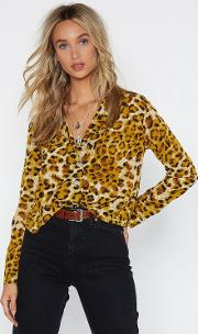 Any Minute Meow Leopard Shirt