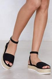 Are You Up To It Espadrille Platform