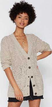 Be Done With Knit Cable Cardigan