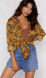 Bearer Of Plaid News Oversized Shirt