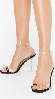 Bling Your Outfit Toe Gether Clear Heels
