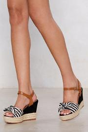 Bow Away Striped Wedge