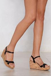 Build 'em Up Faux Leather Wedge