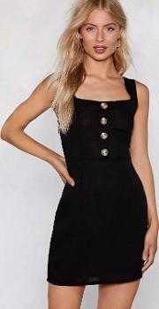 Button The Prowl Mini Dress