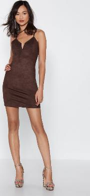 California Love Faux Suede Mini Dress