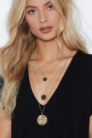 Circle Back Layered Necklace
