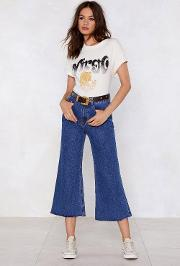 Cropped In Your Tracks Wide Leg Jeans