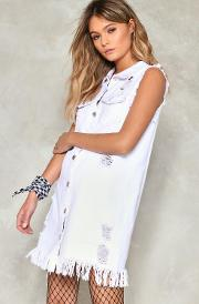 Dangerous Tonight Distressed Denim Dress
