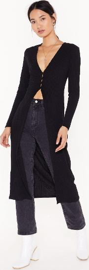 Don't Be Gone Too Longline Knit Cardigan