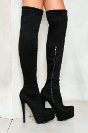 Game Is Up Knee High Boot
