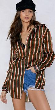 Get On The Stripe Thing Oversized Shirt