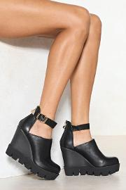 Gimme More Vegan Leather Wedge