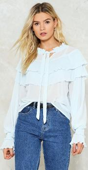 Gravity Ties Ruffle Blouse
