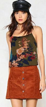 Grow Down In History Floral Cami Top