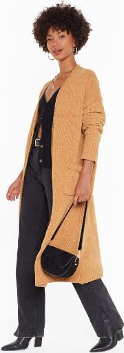 Hands In Knit Maxi Cardigan