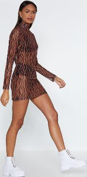 Hot Mesh Tiger Dress