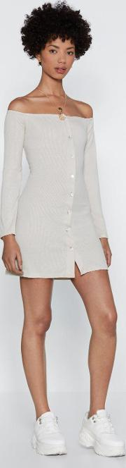If It Were Button Down To Me Mini Dress