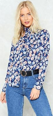 If You Can't Dance Floral Blouse
