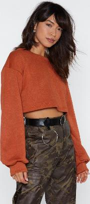 Inflated Ego Cropped Sweater