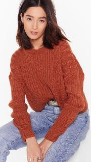 Knit's About To Get Real Ribbed Sweater