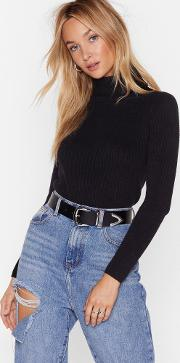Knit's Yours For The Takin' Turtleneck Sweater